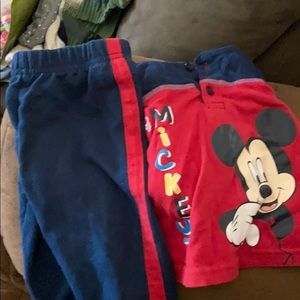 3-6 month mickey mouse disney shirt and pants